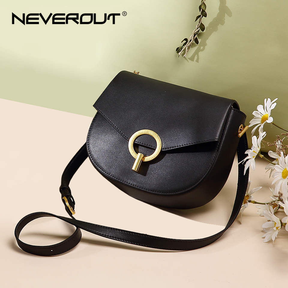 NEVEROUT Crossbody Bags for Women Shoulder Bag Soft Leather Messenger Bag Casual Metal Round Lock Handbag Party Saddle BagsNEVEROUT Crossbody Bags for Women Shoulder Bag Soft Leather Messenger Bag Casual Metal Round Lock Handbag Party Saddle Bags