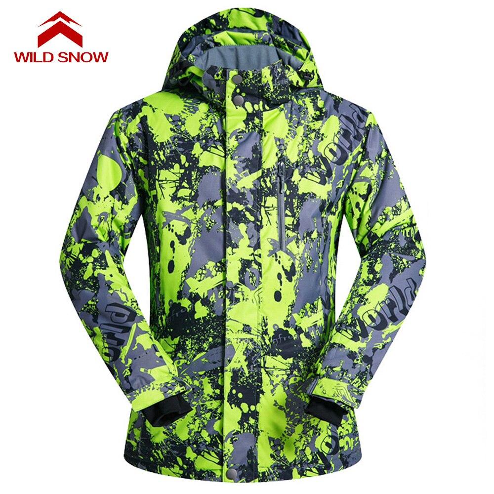 Neige sauvage hommes et femmes manteau de snowboard veste de neige coupe-vent imperméable vestes de Ski hiver à capuche vêtements de montagne vêtements Outwear