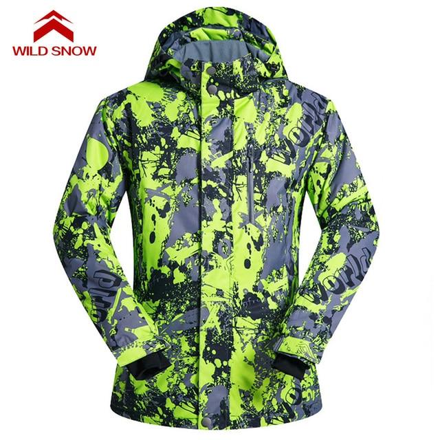 f6340dd46b WILD SNOW 2017 New Winter Ski Jackets Suit Men Outdoor Thermal Waterproof  Windproof Snowboard Jackets Climbing Snow Skiing Wear