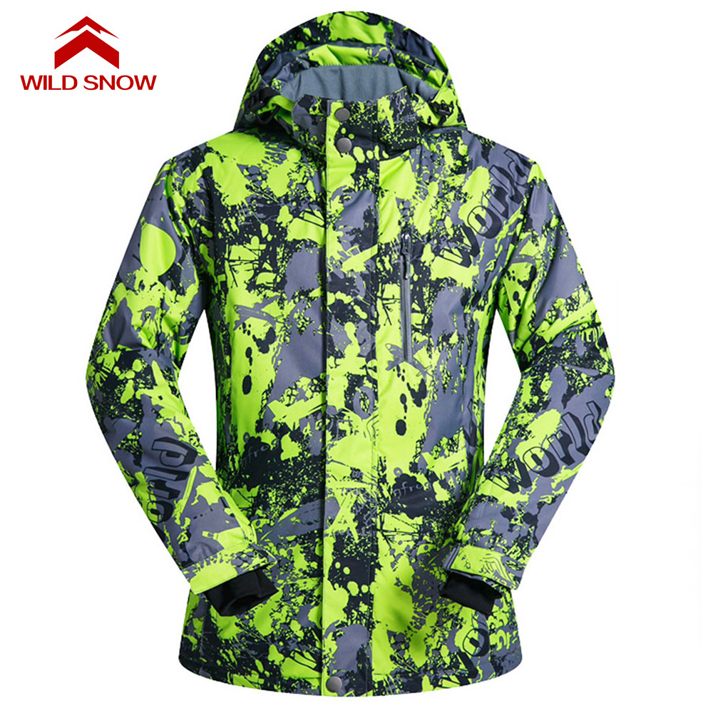 WILD SNOW Men And Women Snowboarding Coat Snow Jacket Windproof Waterproof Ski Jackets Winter Hooded Mountain Clothes Outwear biboymall winter coat 2017 military coats women cotton wadded hooded jacket casual parkas thickness plus size snow outwear