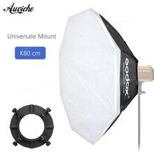 Flash de Estúdio GODOX 80 cm Octagon softbox Universal de Montagem para o flash de Estúdio Godox 250DI 300DI E250 E300 K150A K180A ST250