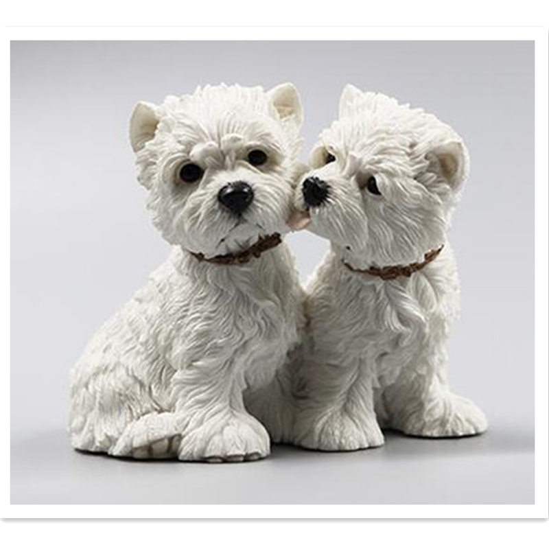 9cm West Highland White Terrier dog couple figure,car styling home room decoration,poodle decorative article Christmas gift toy doershow african shoe and bag set africa nigeria for women s shoes for wood bottom dd1 64