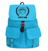 Kpop Home Bts Bangtan Boys Jimin Suga Blue Schoolbag Korea Style Canvas Backpack School Backpack