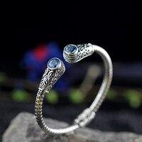 S925 Браслеты стерлингового серебра пустой браслет для Для женщин женский подарок тайский Серебряные ювелирные изделия Одежда высшего качес