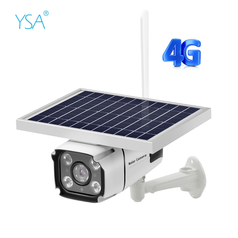 4G SIM Card Solar IP Camera 2MP Wireless Security Surveillance Waterproof Outdoor Camera IR Night Vision Solar Powered Cam
