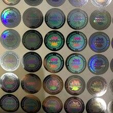 תוצרת גרמניה הולוגרמה אמיתי מובטח הולוגרפי מדבקת 19mm באיכות גבוהה 3D לייזר מדבקות 4 צבעים