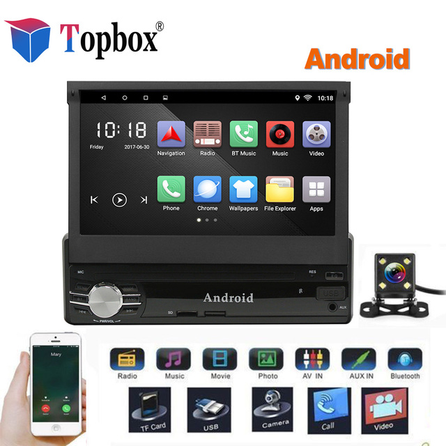 "topbox 1din android car multimedia 7"" quad core 6 0 car styling 1"