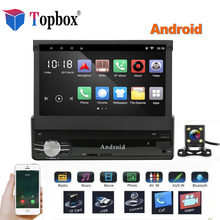 Topbox  1Din Android Car Multimedia 7″ Quad Core 6.0 Car Styling 1 din Autoradio GPS WIfi Car Audio Player Bluetooth With Camera