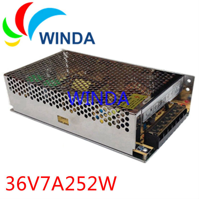 252W switching power supply output 36V7A full range can be applies for all countries centralized power supply 20v 1 2a power module 220v to 20v acdc direct switching power supply isolation can be customized