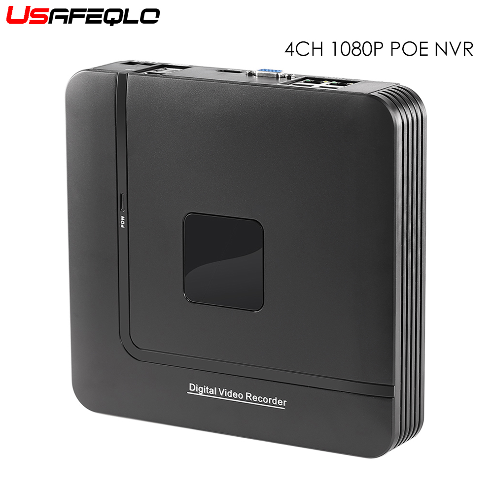 4Channel PoE NVR 1080P 4CH 2MP 4CH Surveillance CCTV NVR IEE802 3af 48V PoE HI3515C For
