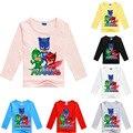 2-10Y Newest Cartoon Masks Children T Shirts PJ Summer Boys Girls Long Sleeve Tops Shirt Tees Cotton Baby Clothing Boys T-Shirts