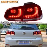 Rear Running Lamp + Brake + Reverse + Dynamic Turn Signal Car LED Tail Light Taillight For Volkswagen Golf 6 MK6 R20 2009 2013