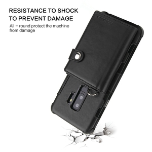 Image 4 - Wallet Flip Cover For Samsung Galaxy Note 9 8 Note8 Luxury Shockproof Coque For Samsung Galaxy s8 s9 plus Note9 Case S9plus S10