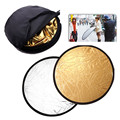 43/110cm 2in1 Gold and Silver Handhold Multi Collapsible Portable photo Disc Light Reflector for Photography auxiliary