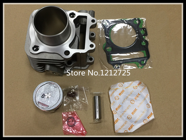 124cm3 20EB Scooter cylinder AN125 HS125T motorcycle Cylinder <font><b>piston</b></font> <font><b>piston</b></font> <font><b>ring</b></font> oil seal gasket AN 125 <font><b>Piston</b></font> <font><b>52mm</b></font> pin 14mm image