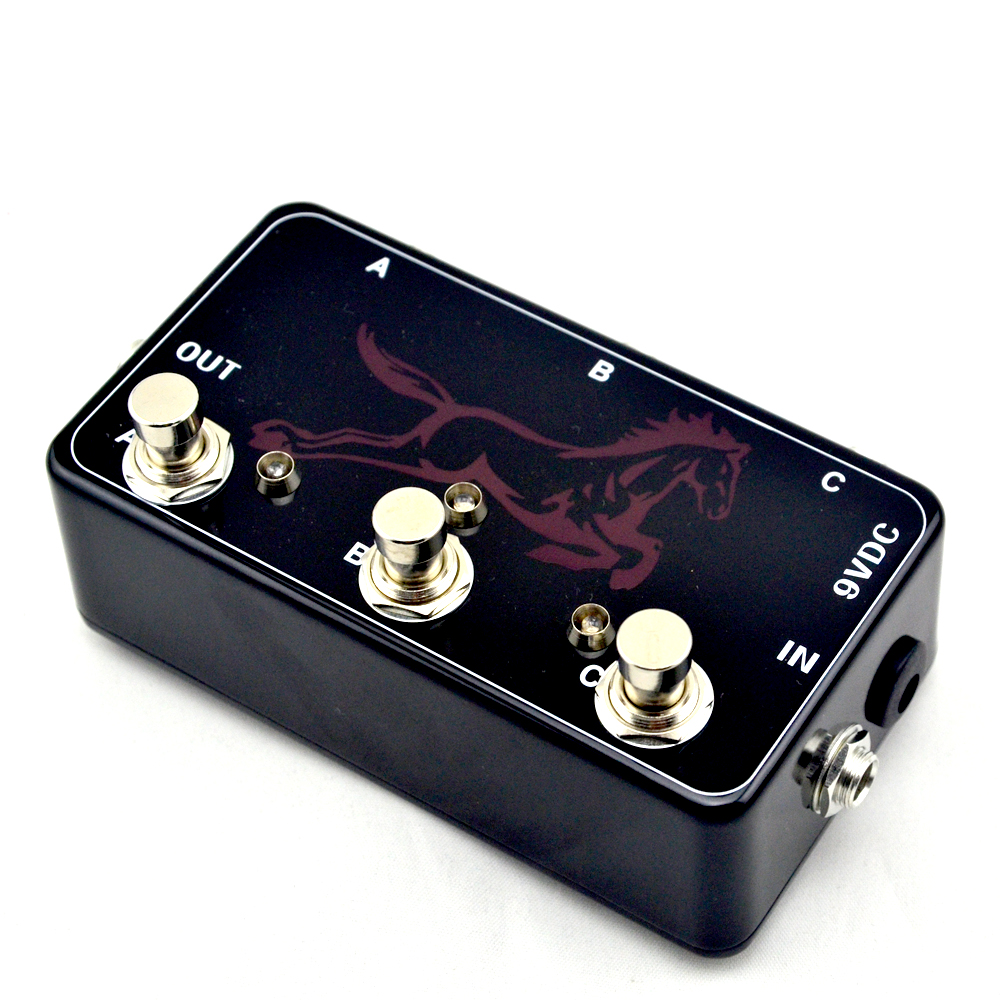Hand made Triple Effects Loop Pedal 3 Looper Switcher Guitar Pedal HB 1