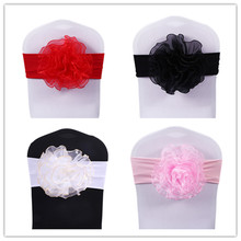 цены на Flower chair band/organza chair sashes/spandex chair sash 100pcs Free Shipping в интернет-магазинах