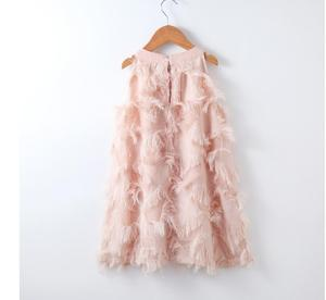 Image 4 - Dopasowane sukienki dla córki matki letnia rodzina pasujące ubrania bez rękawów Tassel Party Family Look mama córka sukienka ubrania