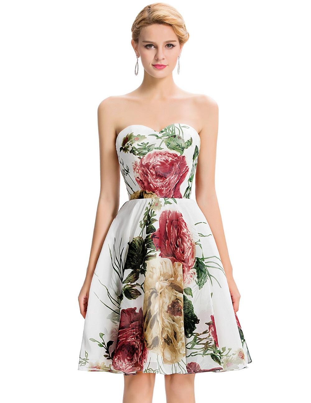 Vestidos de fiesta con estampado floral