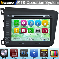 8 2 Din MTK3360 Car DVD Automotivo DVD Player For Honda CIVIC 2012 2013 With Bluetooth