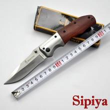 Brand Folding Hunter Knife 3Cr13 Blade + Redwood Handle