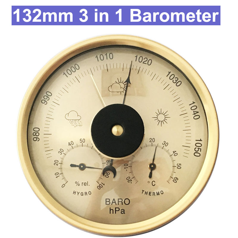 132mm 3 in 1 Analog Barometer Thermometer Hygrometer Wall Hanging Temperature Humidity Monitor Atmospheric Pressure Meter стульчик pituso sol африка зеленый серый белый