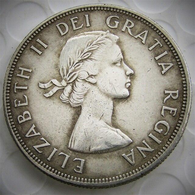 Canada 1956 1 Dollar Copy Coins ELIZABETH II DEI GRATIA REGINA