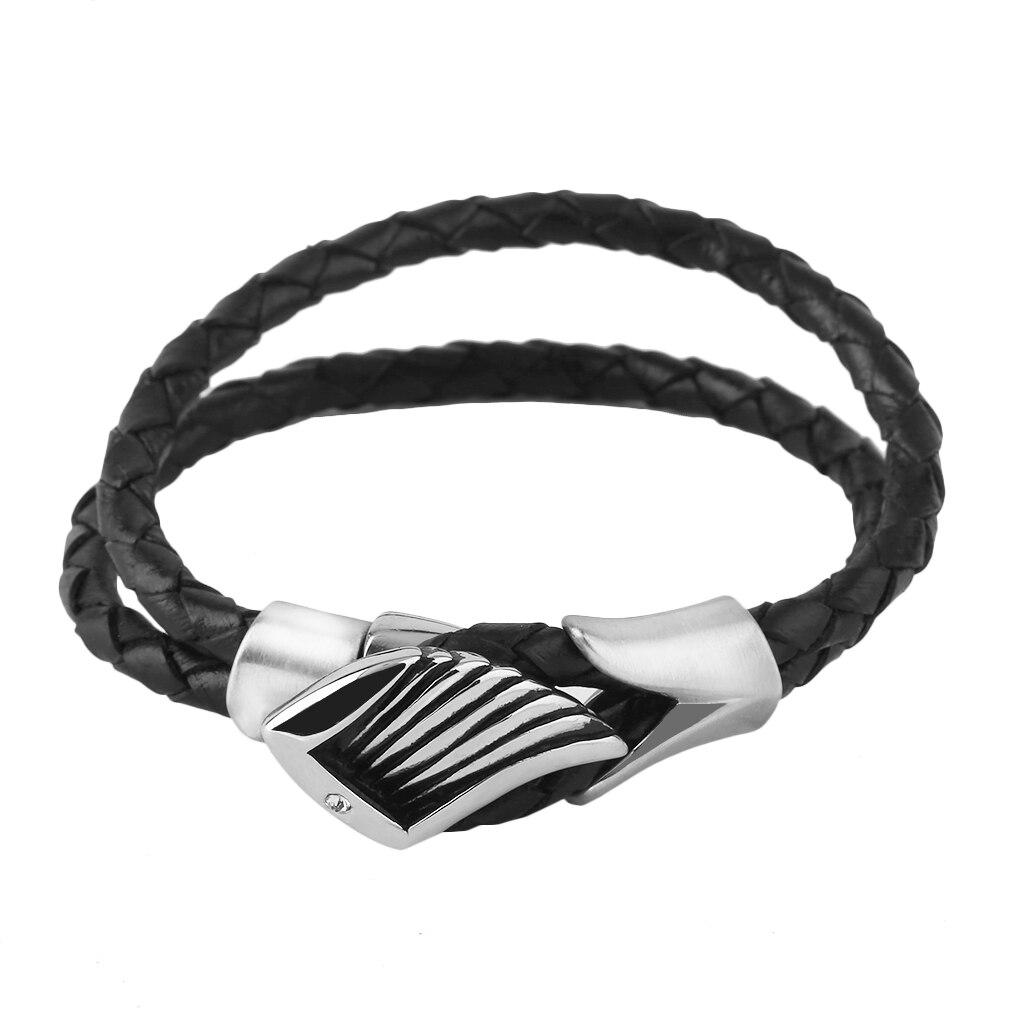 Retro Stainless Steel Men's Bracelet Genuine Titanium Steel Leather Bracelet Gift To Send Her Costume fashion Jewelry bracelets