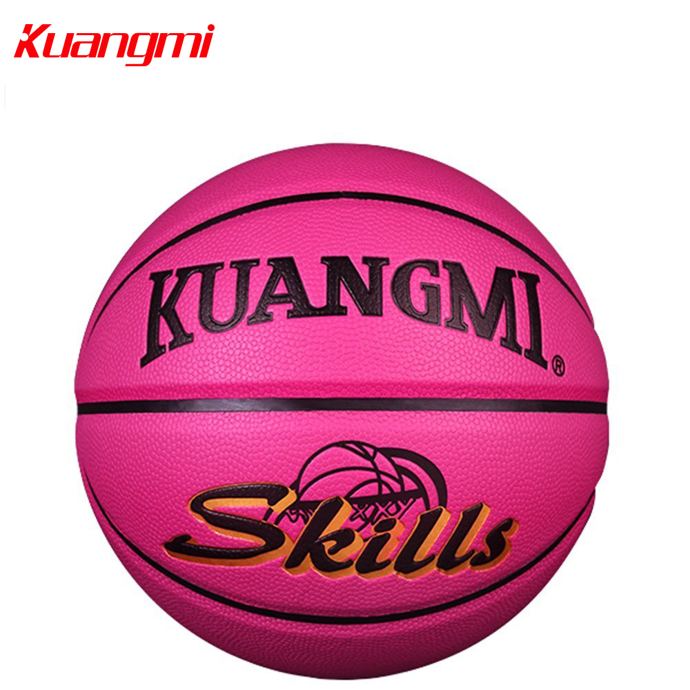 Kuangmi Official Size 5 Children Basketball Ball PU Leather Kids Playing Game indoor and outdoor Balls kuangmi sporting goods basketball pu training game basketball ball indoor outdoor official size 7 military sporit series netball