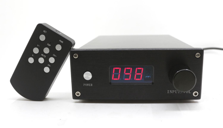 цена на HIFI Remote 128 Steps Volume Preamplifier 2 Channel Pure Resistors Relays Preamplifier