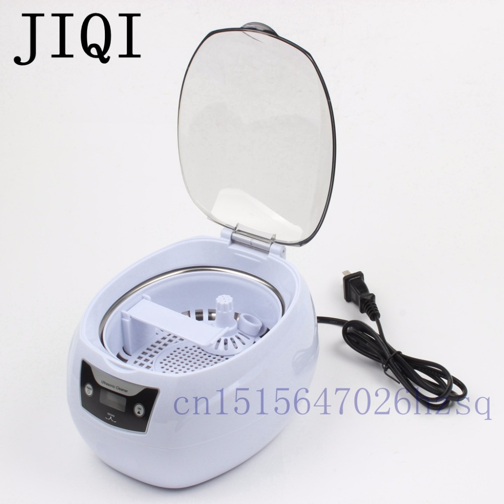 JIQI 50W 750mL Household ultrasonic cleaner Ultrasonic wave cleaner Cleaning machine Microcomputer control 200-240V or 100-120VJIQI 50W 750mL Household ultrasonic cleaner Ultrasonic wave cleaner Cleaning machine Microcomputer control 200-240V or 100-120V