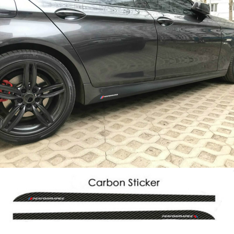 2pcs M Performance Side Skirt Stripe Body Decals Sticker For BMW E90 E92 E93 F20 F21 F30 F31 F32 F33 F34 F15 F10 F01 F11 F02 G30