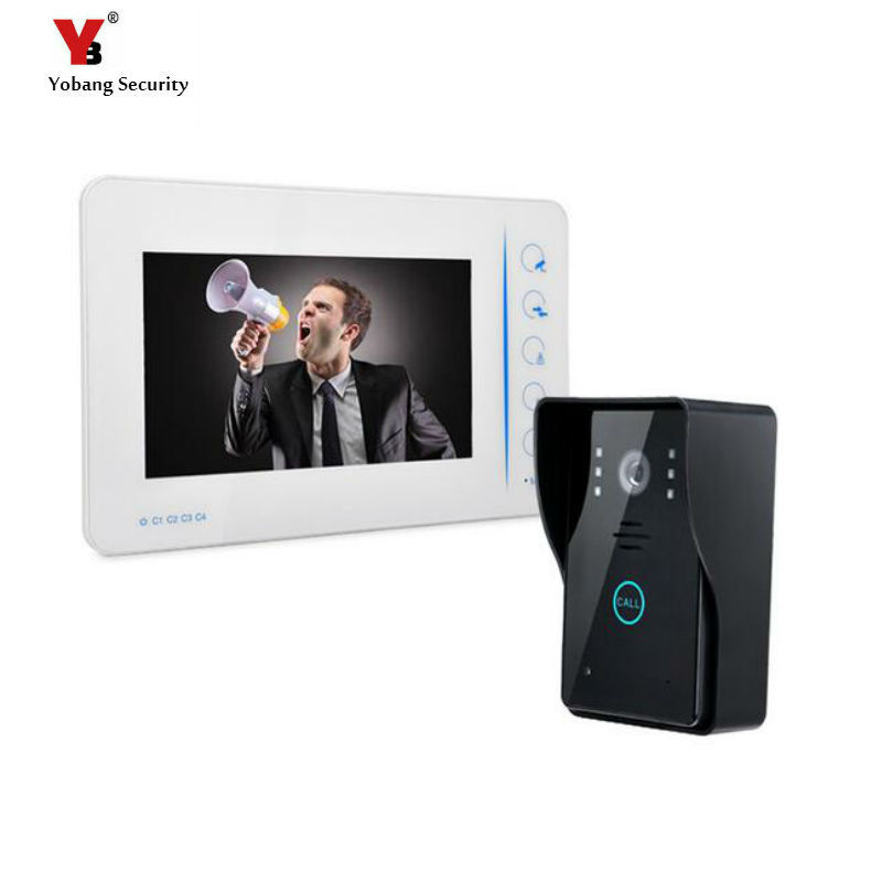Yobang Security 7Doorbells with video intercom Door Camera With touch keypad Doorbell Night Vision Home Security door intercom yobang security free ship 7 video doorbell camera video intercom system rainproof video door camera home security tft monitor