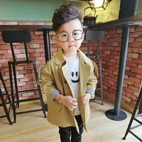 Fashion Spring Autumn New Children Trench Jackets Baby Cotton Casual Coats Long Sleeve Striped Outwear for Boys Girls Coats 2 7Y