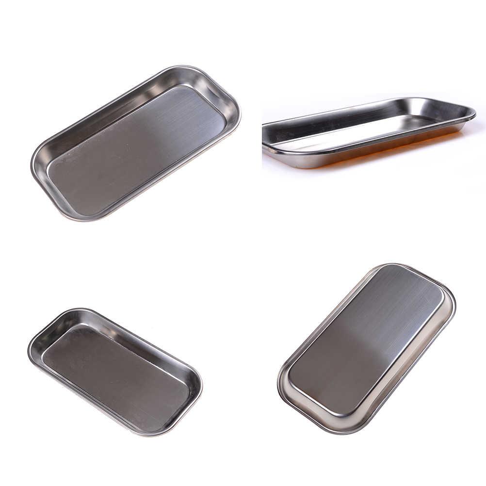 Nova marca dental de aço inoxidável médica cirúrgica bandeja prato ferramenta instrumento de laboratório dispositivos médicos suprimentos tratamento cirúrgico