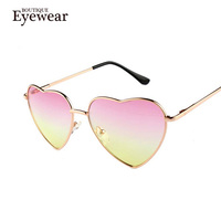 Boutique heart shaped sunglasses women metal reflective lenes fashion sun glasses men mirror oculos de sol.jpg 200x200
