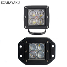 1 x 3inch Square LED Pods 12W dually light 12W LED Work Lights 4D Projector Spot Light Off Road Truck SUV 4WD 4X4 LED Pod Lights