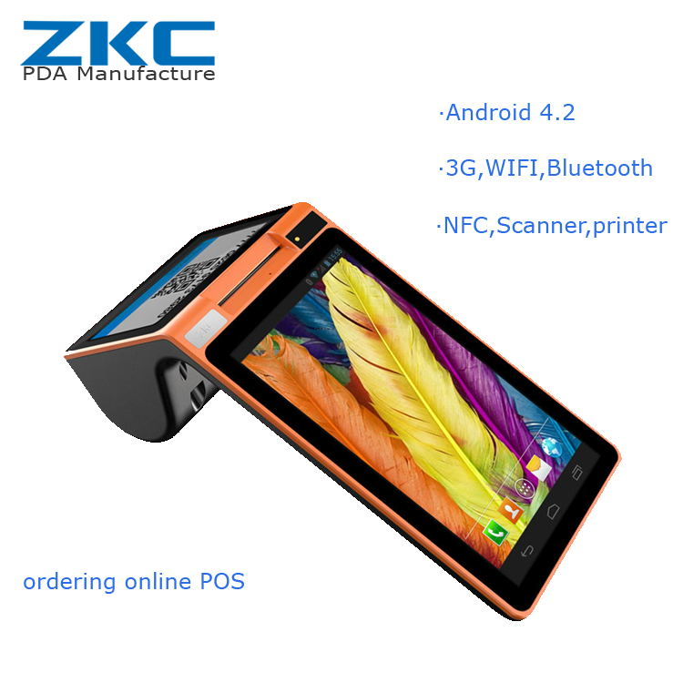 android handheld pos receipt printer with 3g wifi bluetooth nfc pos terminal - Receipt Scanner