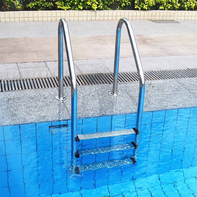 SWIMMING POOL LADDER QUALITY 3 STEP TREAD STAINLESS STEEL IN BELOW ABOVE GROUND marine boat folding ladder pontoon transom boarding ladder 3 step narrow type stainless