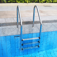 SWIMMING POOL LADDER QUALITY 3 STEP TREAD STAINLESS STEEL IN BELOW ABOVE GROUND