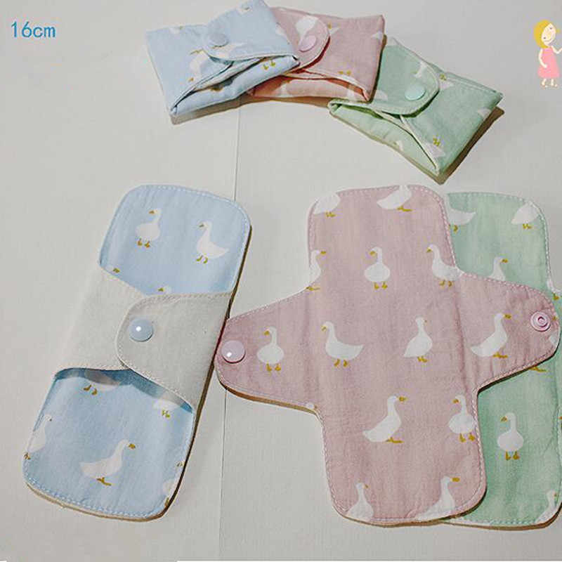 2 Pcs/lot new 160mm Sanitary Pad Soft Reusable Washable Panty Liner Cloth Mama