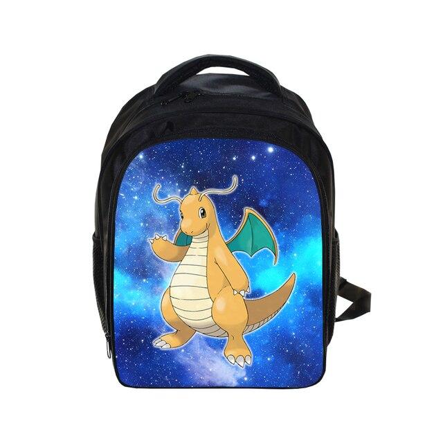 Cartoon Pokemon Dragonite Galaxy Backpack School Bag Book Bag Kids Boys  Girls School Backpack Children Primary Kindergarten Bags