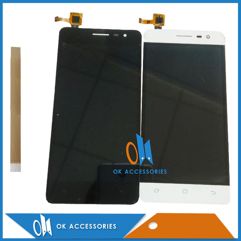 Black White Color For Hisense C20 LCD Screen Display+Touch Screen Digitizer High Quality With Tape