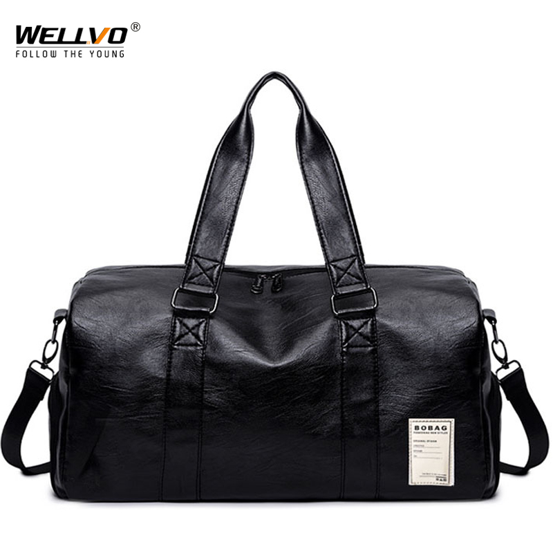Men PU Leather Bag Male Big Crossbody Bags For Duffle Handbags Travel Shoulder Luggage Bag With Shoes Storage New XA102WC 2 up tour pak mounting luggage rack for harley touring flhr flht flhx fltr 14 16
