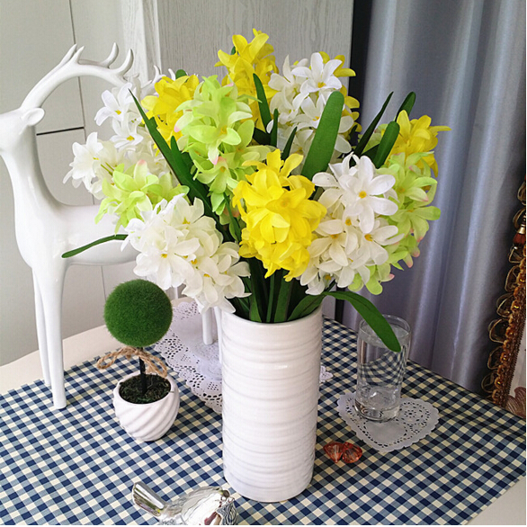 French hyacinth Floral Bouquet Artificial Silk Fake vanilla Flower Table Spring Onion ball Wedding Home Party Decortion