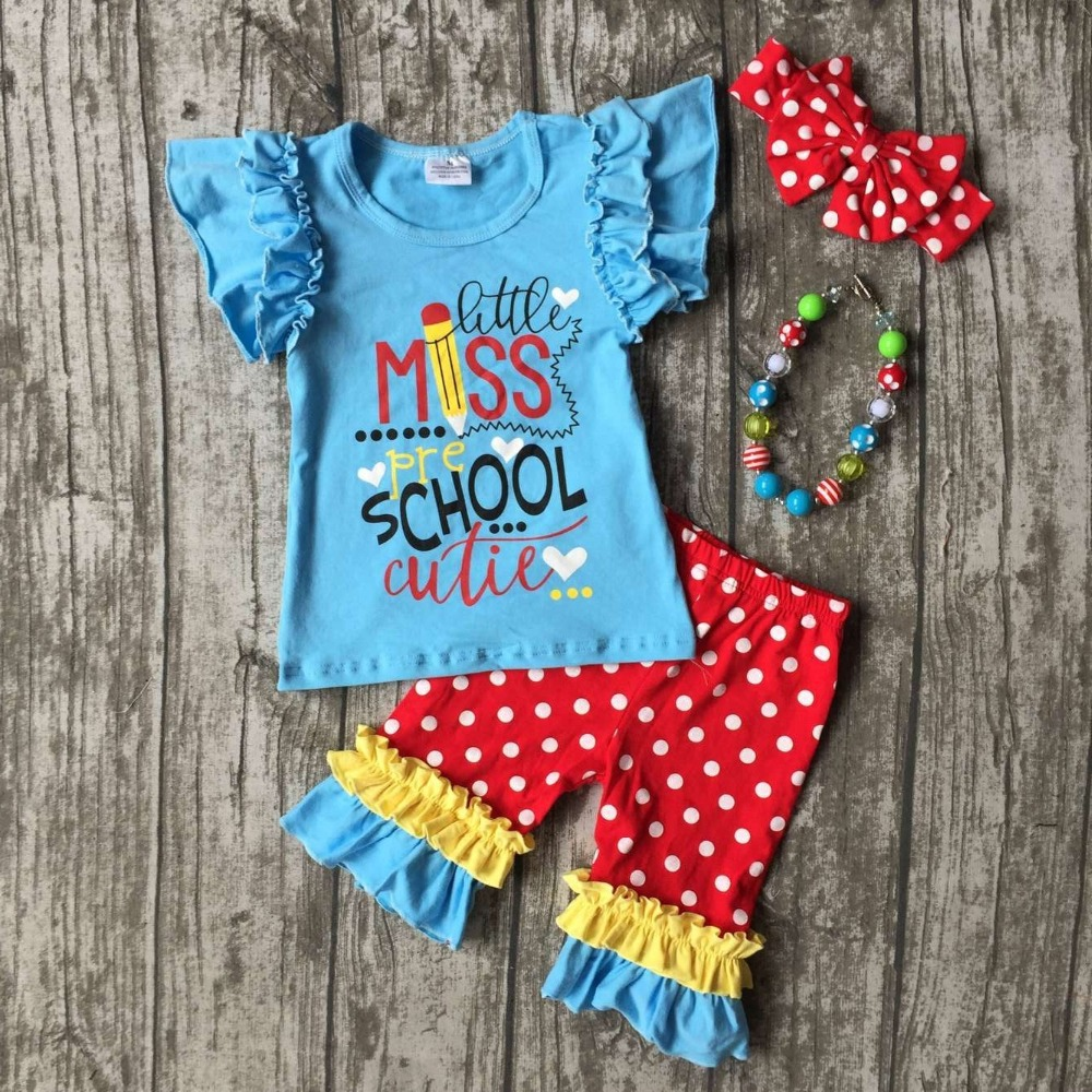 kids girls boutique clothes girls back to school outfits girls little miss pre school cutie clothing capri pants with accessorie