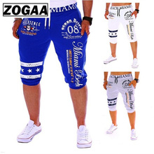 ZOGAA New Casual Men Shorts men clothes 2018 streetwear short pants Drawstring Elastic High Waist Printing jeans shorts