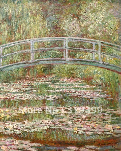 100% handmade Claude Monet Oil Painting Reproduction on linen canvas,Bridge over a Pond of Water Lilies,Free  Shipping,100% handmade Claude Monet Oil Painting Reproduction on linen canvas,Bridge over a Pond of Water Lilies,Free  Shipping,