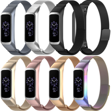 Laforuta High Quality Milanese Loop Stainless Steel Band for Samsung Galaxy Fit-e Bracelet Sports Replacement Strap SM-R375