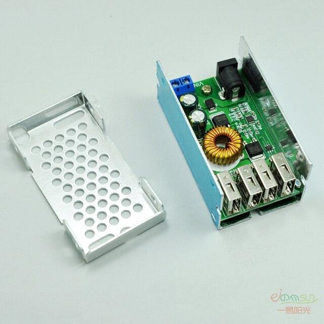 4 USB Output DC-DC 9V/12V/24V/35V to 5V 5A Step Down Power Module Converter  Electric Modules Board  phone fast charging